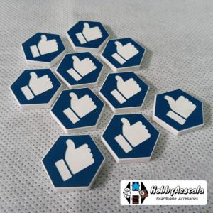 Set 10 tokens audiencia acrílicos bicolor compatible Gaslands