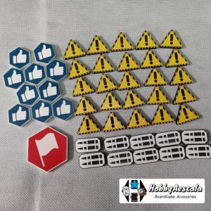 Set 46 tokens acrílicos bicolor compatible Gaslands